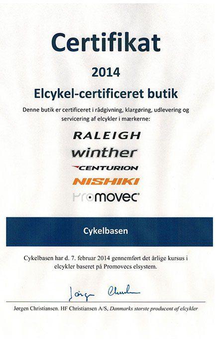 certifikat_elcykel_service_forhandler