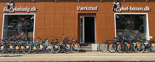 facade elcykelsalg og cykel-basen